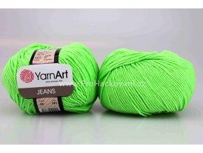 příze YarnArt Jeans 60 neon zelená