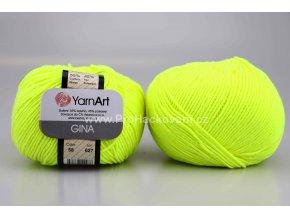 příze YarnArt Jeans 58 neon žlutá