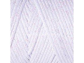 Macrame Cotton Lurex 721 bílá