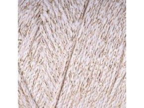 Macrame Cotton Lurex 724 krémová
