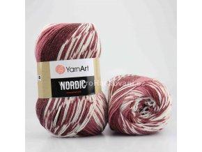 příze Nordic 665 starofialová a krémová