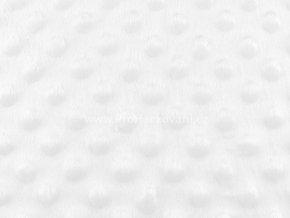 Látka Minky s 3D puntíky bílá