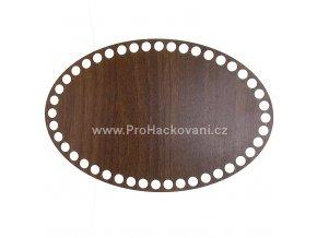 Dno na košík dekor ořech ovál 24 x 16 cm