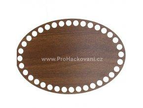 Dno na košík dekor ořech ovál 20 x 13,5 cm