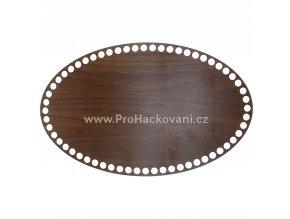 Dno na košík dekor ořech ovál 32 x 20 cm