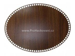 Dno na košík dekor ořech ovál 43 x 32 cm