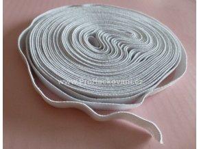 Guma, pruženka plochá 15 mm bílá