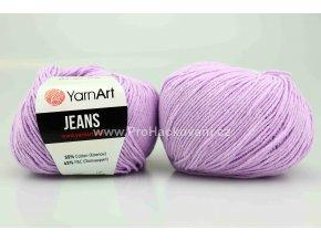 příze YarnArt Jeans 89 světle fialová