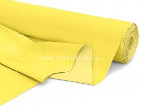 Bavlněná látka pastelově žlutá