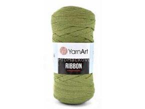 Ribbon Yarn Art Olivové