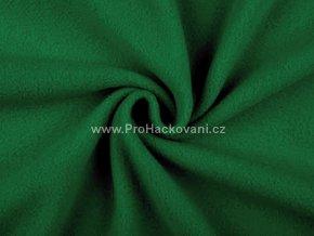 Látka fleece tmavší zelená