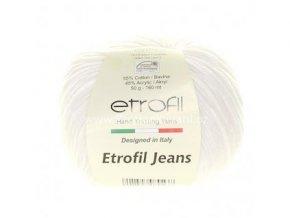 příze Etrofil Jeans 071 sněhová bílá