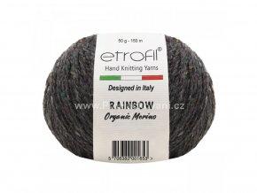 příze Rainbow Organic Merino 129 šedá melange