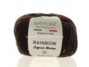 příze Rainbow Organic Merino 164 tmavě hnědá