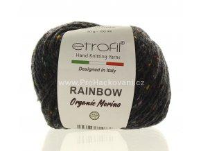 příze Rainbow Organic Merino 167 tmavá šedohnědá