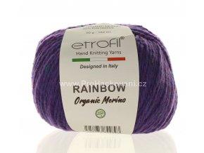 příze Rainbow Organic Merino 170 fialová