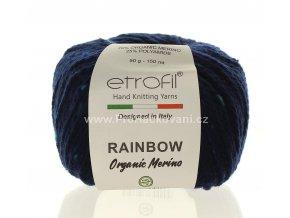 příze Rainbow Organic Merino 169 tmavě modrá