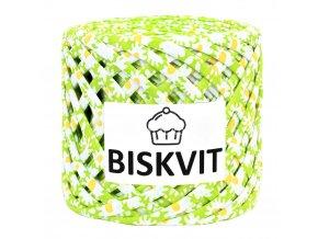 špagáty Biskvit 1895 jarní zelené s kopretinami
