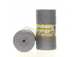 Cotton Macrame Maccaroni 37-101 šedá melange