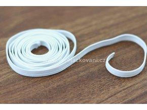 Pruženka, guma plochá 4 mm bílá