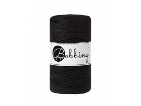 Bobbiny 3PLY Macrame Regular 3 mm černé (BLACK)