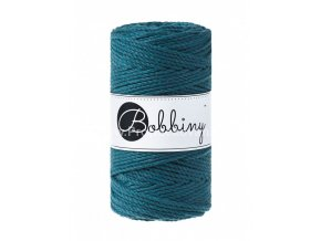 Bobbiny 3PLY  Macrame Regular 3 mm petrol  (PEACOCK BLUE)