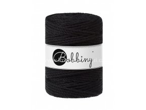 Bobbiny 3PLY Macrame Rope XXL černé (BLACK)