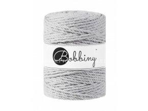 Bobbiny 3PLY Macrame Rope XXL světle šedé (LIGHT GREY)