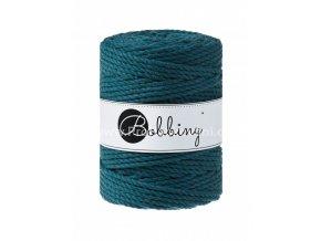 Bobbiny 3PLY Macrame Rope XXL petrol (PEACOCK BLUE)
