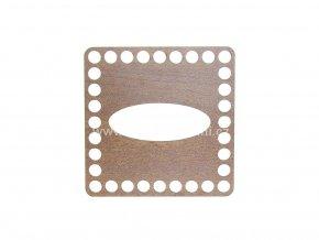 Čtverec na kapesníky dekor ořech 11,5 cm