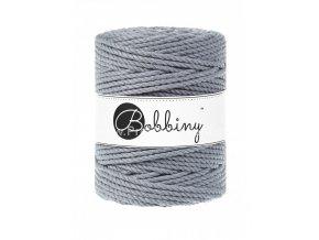 Bobbiny 3PLY Macrame Rope XXL ocelově šedé (STEEL)