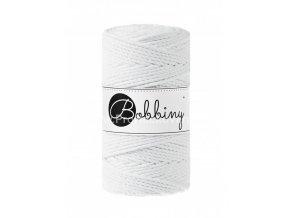 Bobbiny 3PLY  Macrame Regular 3 mm bílé (WHITE)