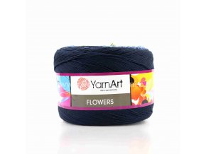 příze Flowers 250 šedá, zelená, žlutá, modrá