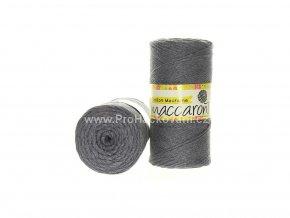 Cotton Macrame Maccaroni 17 šedý melír
