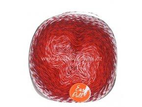 příze Re-Public 021 bílá, červená, vínová