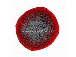 příze Re-Public 023  šedá, antracitová, červená, vínová