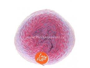příze Re-Public 022 fialková, malinově růžová, lila