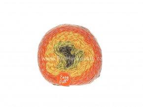 příze Re-Public 018 antracit, žlutá, oranžová, šedá