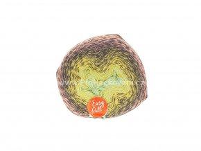 příze Re-Public 012 světle zelenomodrá, světle žlutá, hnědá, lososová