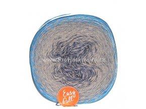 příze Re-Public 026 jeans, šedá, modrá