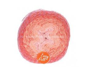 příze Re-Public 004 růžová, lososová, červená, fialová