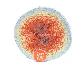 příze Re-Public 002 šedá, oranžová, vanilková, světle modrá