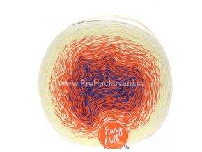 příze Re-Public 001 modrá, oranžová, vanilková, smetanová