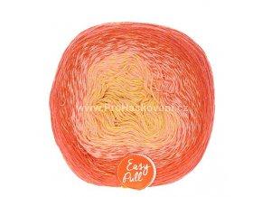 příze Re-Public 003 žlutá, růžová, oranžová, červená