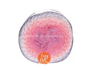 příze Re-Public 005 fialková, růžová, smetanová, fialová