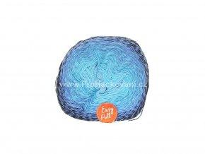 příze Re-Public 009 světle modrá, tyrkysová, modrá, černá