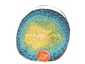 příze Re-Public 007 smetanová, žlutá, tyrkysově modrá, černá
