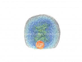 příze Re-Public 015 zelená, modro šedá, zelenomodrá, šedá