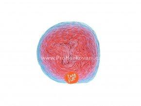 příze Re-Public 014 šeříkově fialová, malinově červená, fialová, modro zelená