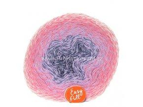 příze Re-Public 016 antracitová, šeříková, růžová, smetanová